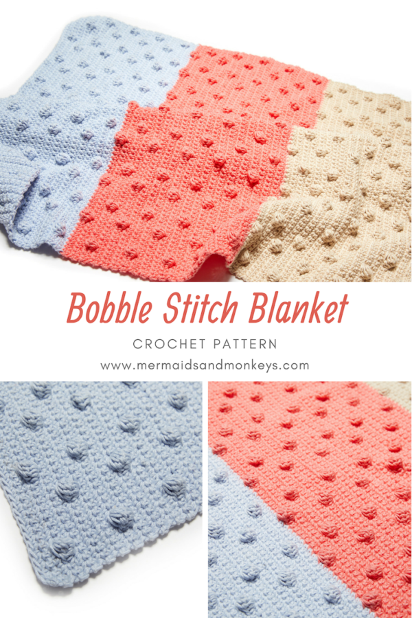 The Bobble Stitch Blanket is an incredible pattern that is easy to follow and really fun to make. #crochetblanket #crochetpattern #crochetlove #crochetaddict