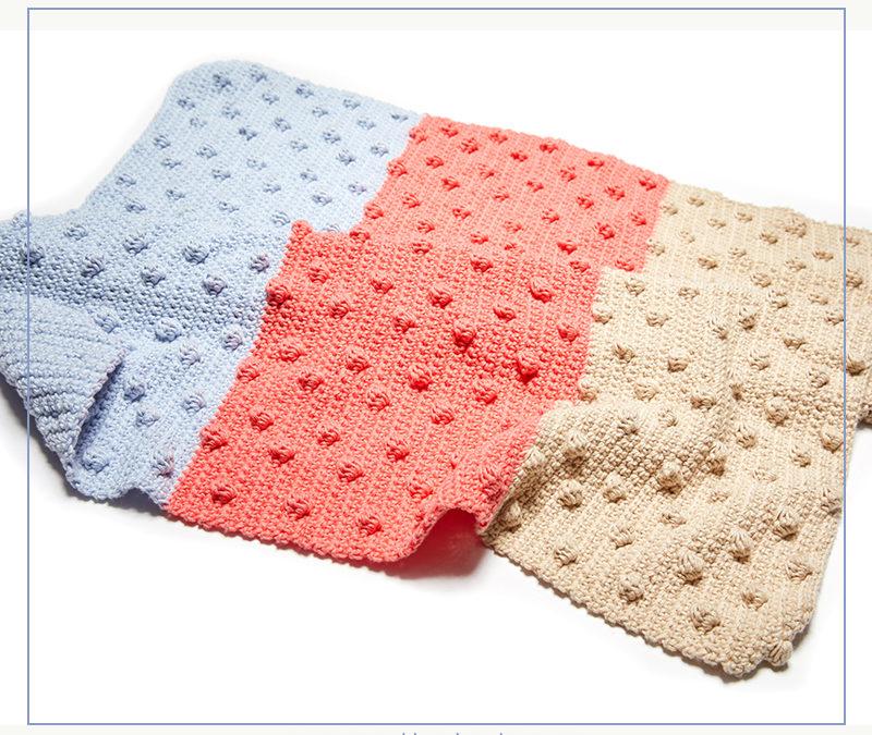 Bobble Stitch Blanket Crochet Pattern