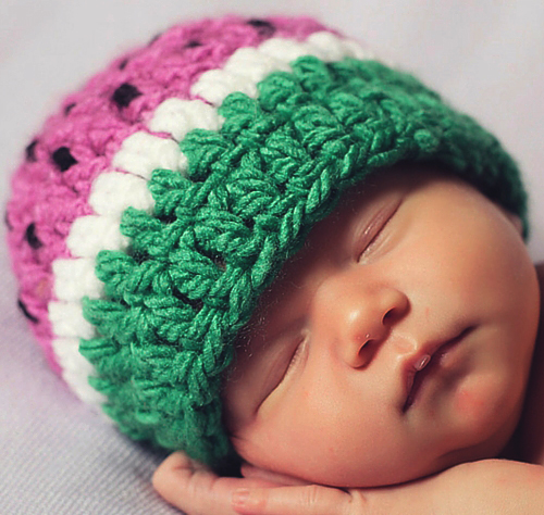 Baby Watermelon Hat Crochet Pattern