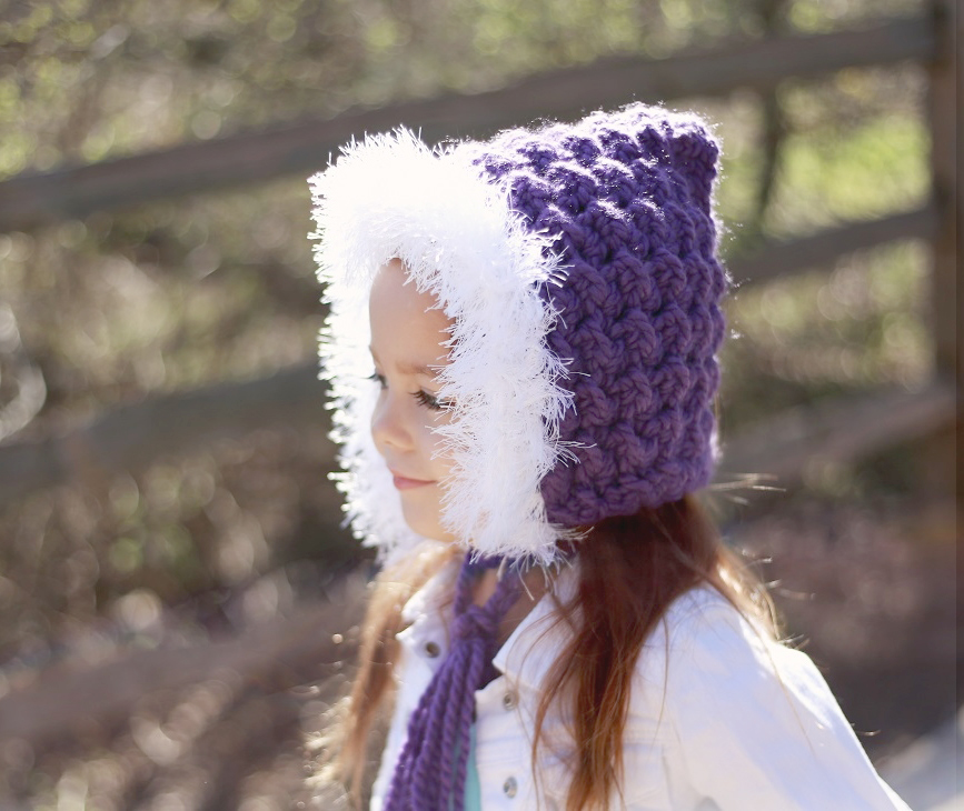 Chunky Furry Hood Hat Crochet Pattern