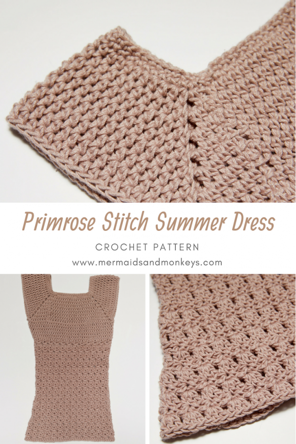 If you're looking for a sweet summer outfit for an outing with your child, take a look at the Primrose Stitch Sundress. #crochetdress #crochetpattern #crochetchilddress #crochetlove #crochetaddict