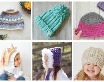 17 Simple Crochet Patterns for Kid's Hats