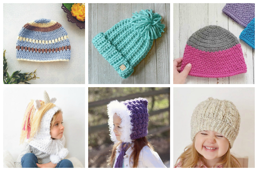 Simple Crochet Patterns for Kid's Hats