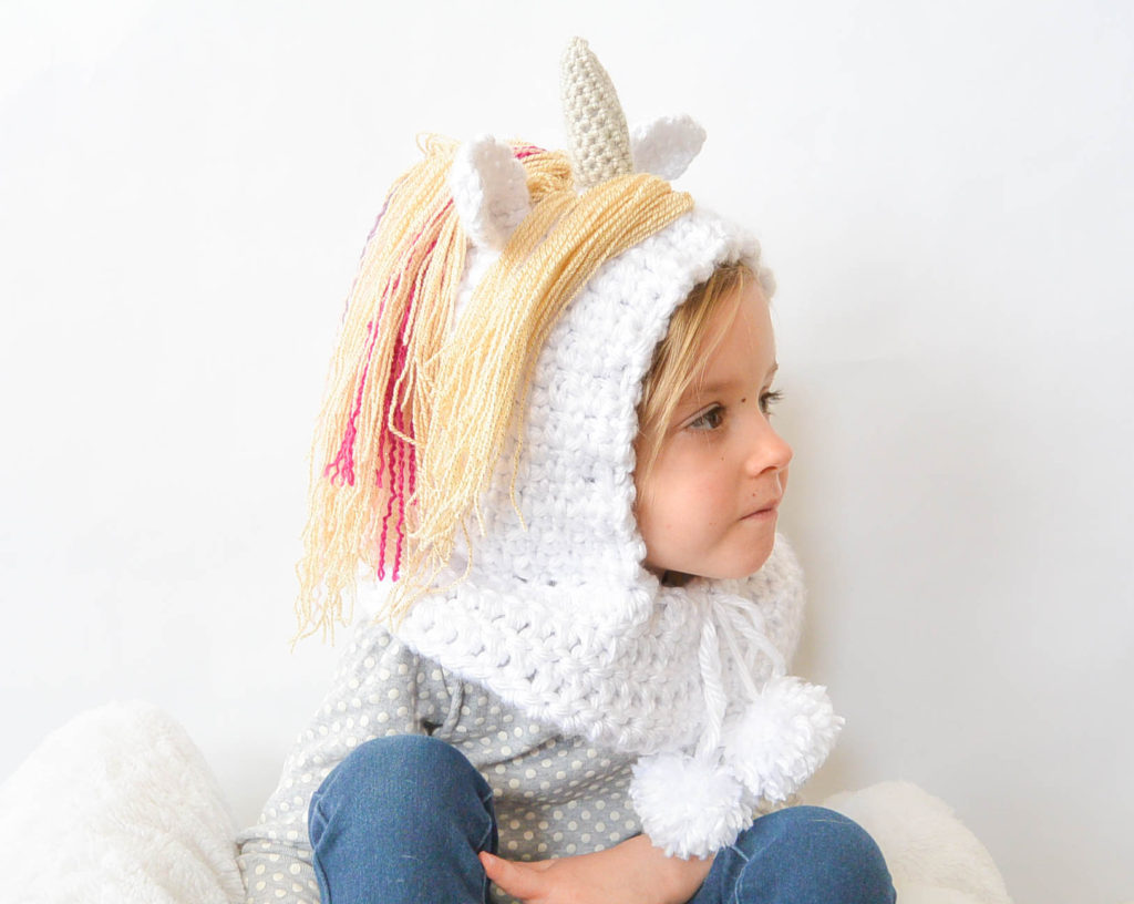 Magical Unicorn Hood Hat Crochet Pattern