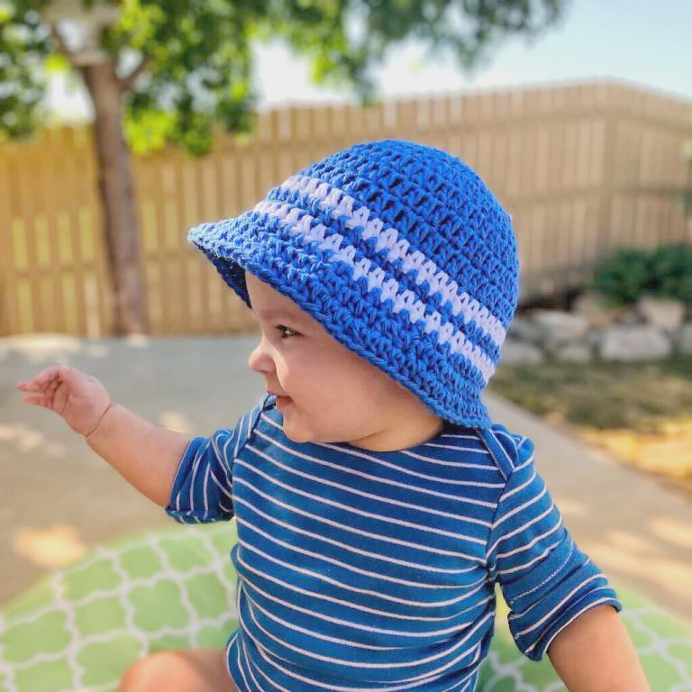 Super Simple Kids Sun Hat Crochet Pattern