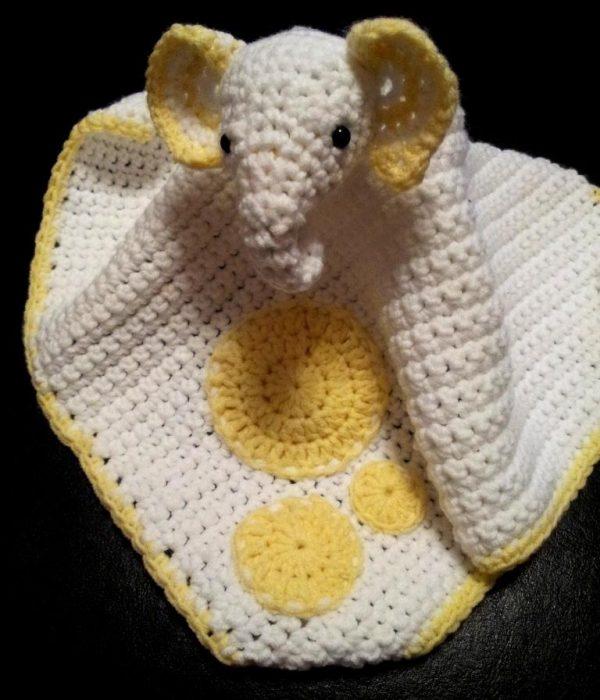 Crochet Elephant Comfort Blanket