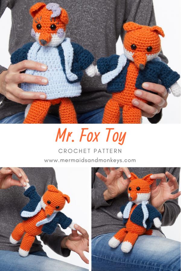 Mr Fox Toy Crochet Pattern