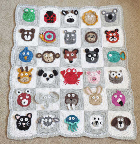 Crochet Zoo Baby Blanket