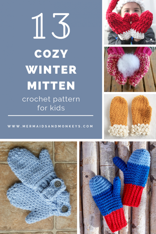 13 Cozy Winter Mitten Crochet Patterns for Kids