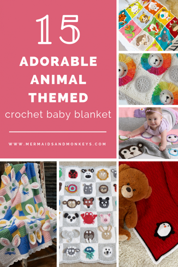 I've put together a list of my favorite 15 crochet baby blankets that all have a really unique theme. Animals!