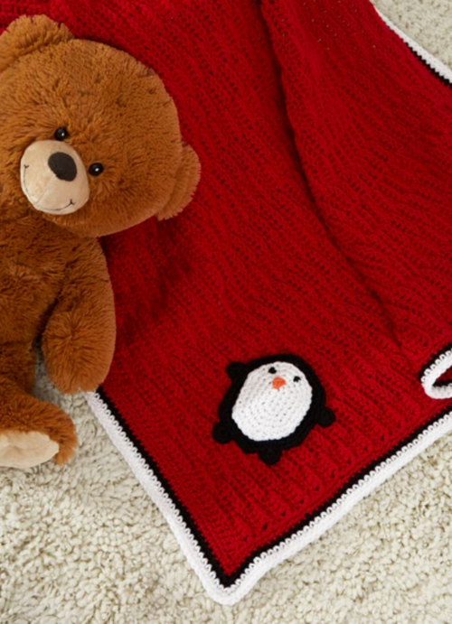 Playful Penguin Easy Crochet Blanket