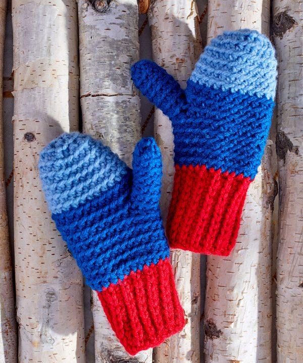 Snowday Crochet Mittens