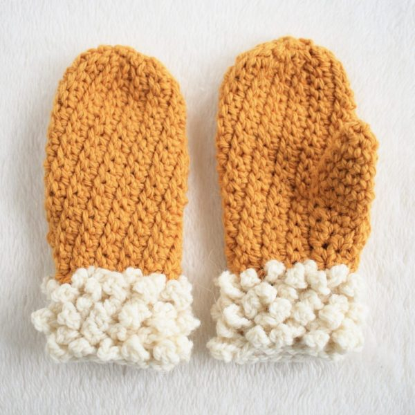 Warm Kids Crochet Mittens