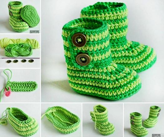 Cuddly Crochet Baby Booties