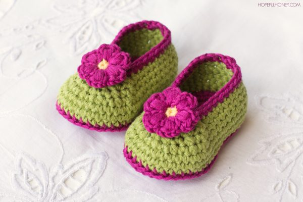 Fairly Blossom Baby Booties