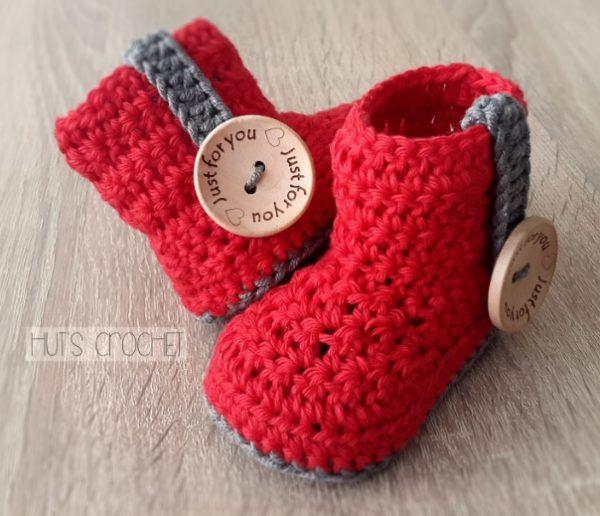 Hut's AmoreCrochet Baby Booties