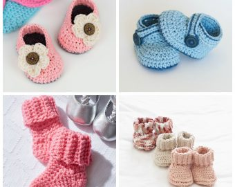 25 Crochet Baby Bootie Patterns