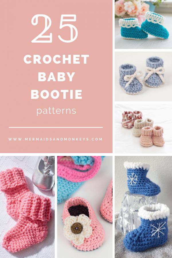 Crochet Baby Bootie Patterns