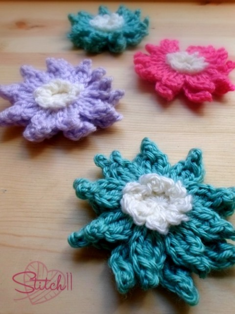 Crochet Water Lily Flower Pattern