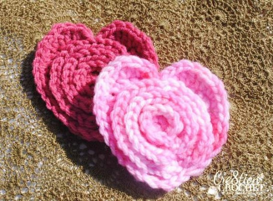 Flower in a Heart Crochet Pattern