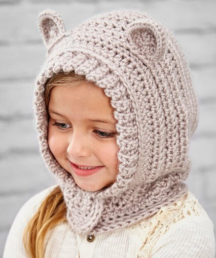 Happy Hoodie - If you're in a rush, these free crochet baby hat patterns are perfect for showing how much you really care, without taking a month to complete. #crochetbabyhatpattern #crochethat #crochetpattern #crochetbabybeanie #crochetaddict