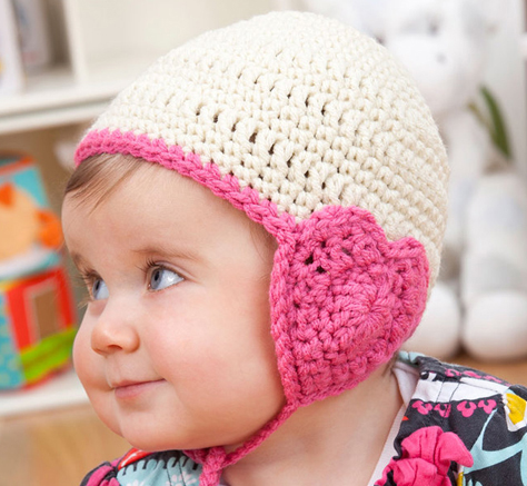 Lovely Hat for Baby - If you're in a rush, these free crochet baby hat patterns are perfect for showing how much you really care, without taking a month to complete. #crochetbabyhatpattern #crochethat #crochetpattern #crochetbabybeanie #crochetaddict