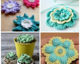 15 Easy Crochet Flower Patterns