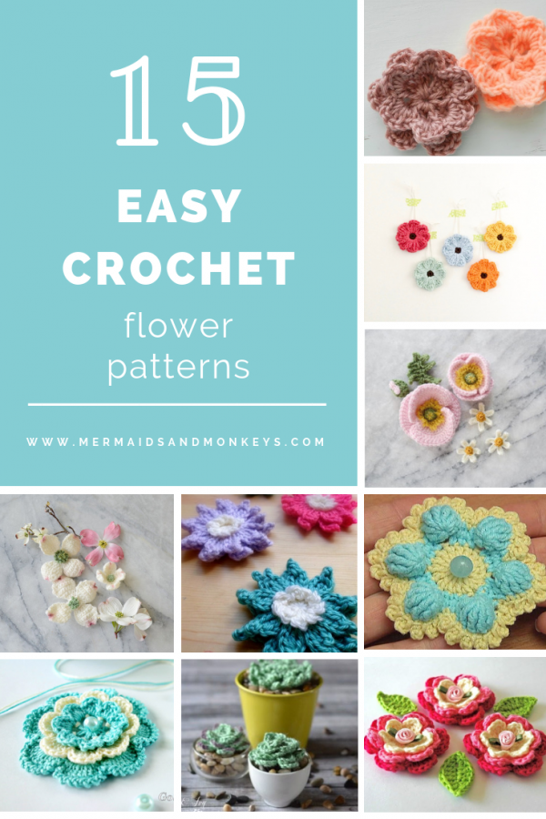 Easy Crochet Flower Patterns
