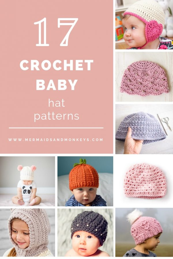 If you're in a rush, these free crochet baby hat patterns are perfect for showing how much you really care, without taking a month to complete. #crochetbabyhatpattern #crochethat #crochetpattern #crochetbabybeanie #crochetaddict