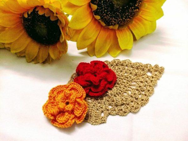 Popcorn Rosy Flower Crochet Pattern