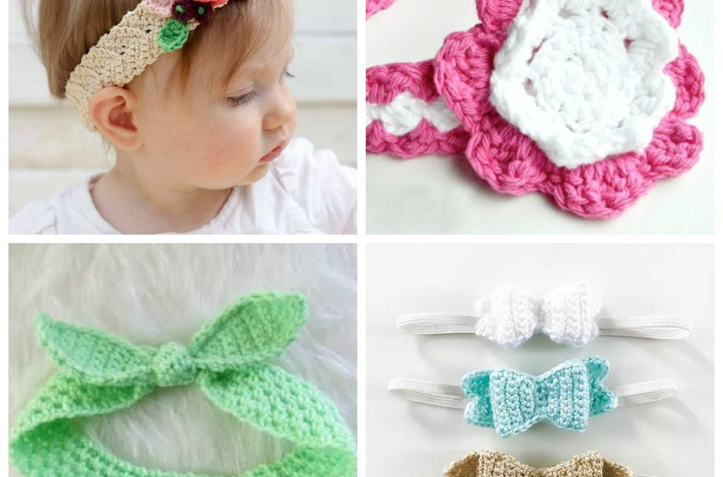 17 Crochet Baby Girl Headbands