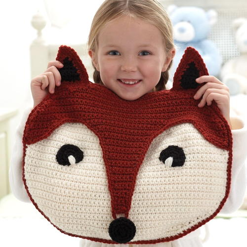 Fantastic Fox Pillow - These crochet pillows are fun and an adventure to make. If you're looking for creative kids pillows, this list will be your go to. #CrochetPillowPatterns #CrochetPatterns #CrochetAddict
