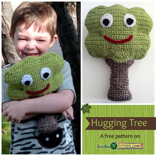 Hugging Tree Pillow - These crochet pillows are fun and an adventure to make. If you're looking for creative kids pillows, this list will be your go to. #CrochetPillowPatterns #CrochetPatterns #CrochetAddict