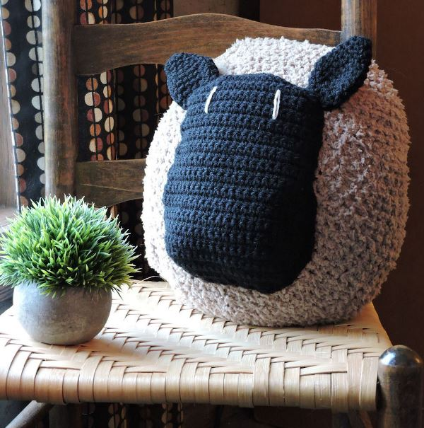 Love My Sheep Pillow - These crochet pillows are fun and an adventure to make. If you're looking for creative kids pillows, this list will be your go to. #CrochetPillowPatterns #CrochetPatterns #CrochetAddict
