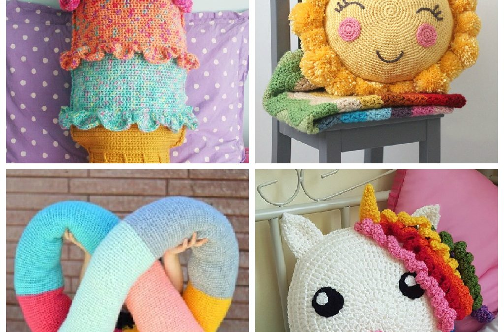 30 Crochet Pillow Patterns for Kid's Rooms