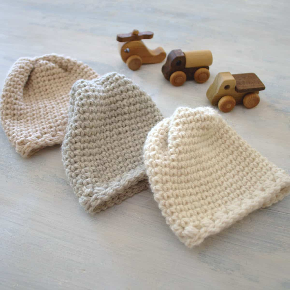 Adorable Sugar Sprout Hat - These free newborn crochet hat patterns are fun and easy to work on. These baby accessories are so fast to make and anyone can do it. #CrochetBabyHatPatterns #CrochetHatPatterns #CrochetNewbornHats