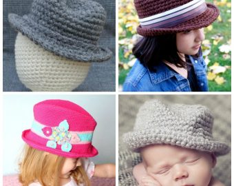10 Fedora Hat Crochet Patterns for Kids