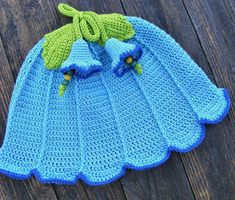 Girl's Bluebell Flower Sun Hat - All of these cute patterns are unique and come in a range of sizes. Pick a crochet hat pattern your kid will love and go with it. #SummerCrochetHat #CrochetPatterns #FreeCrochetHats