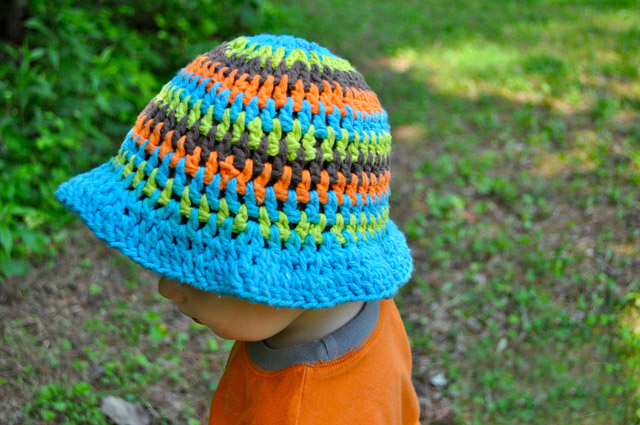 Summer Sun Hat - All of these cute patterns are unique and come in a range of sizes. Pick a crochet hat pattern your kid will love and go with it. #SummerCrochetHat #CrochetPatterns #FreeCrochetHats