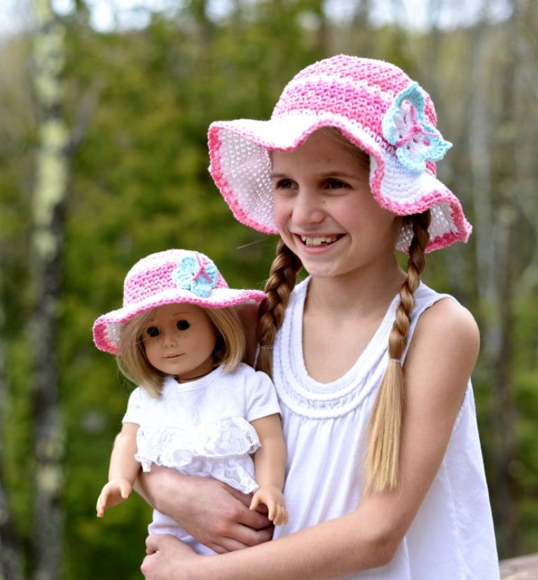 Kid's Linen Stitch Sun Hat - All of these cute patterns are unique and come in a range of sizes. Pick a crochet hat pattern your kid will love and go with it. #SummerCrochetHat #CrochetPatterns #FreeCrochetHats