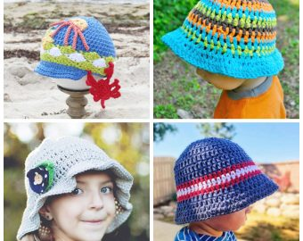 12 Kid's Summer Crochet Hat Patterns