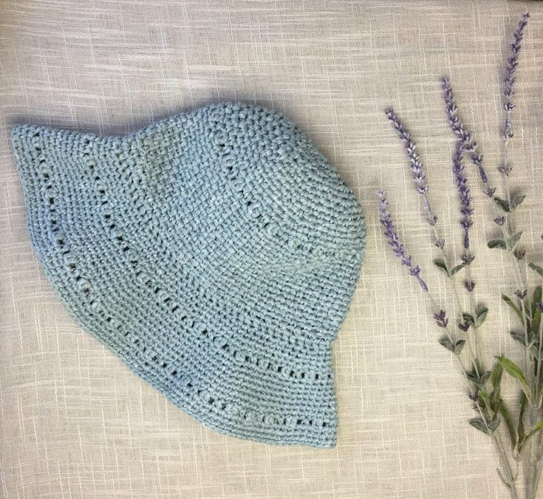 Stop & Rewind Sun Hat - All of these cute patterns are unique and come in a range of sizes. Pick a crochet hat pattern your kid will love and go with it. #SummerCrochetHat #CrochetPatterns #FreeCrochetHats