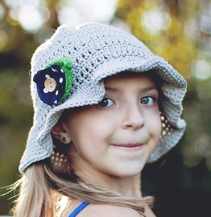 Crochet Sun Hat - All of these cute patterns are unique and come in a range of sizes. Pick a crochet hat pattern your kid will love and go with it. #SummerCrochetHat #CrochetPatterns #FreeCrochetHats