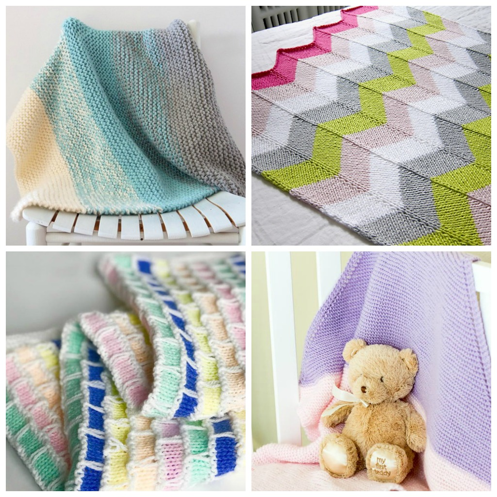 Each of these baby blanket patterns is suitable for any skill level and is fun to make. The best part is how colorful they all are and how versatile. #BabyBlanketPatterns #CrochetBabyBlankets #FreeCrochetPatterns