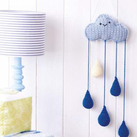 Weather Crochet Mobile - Crochet baby mobiles are colorful, fun and creative. Grab your hook and your favorite type of yarn, and get started on a baby mobile for someone you know. #CrochetBabyMobiles #CrochetPatterns #FreeCrochetPatterns