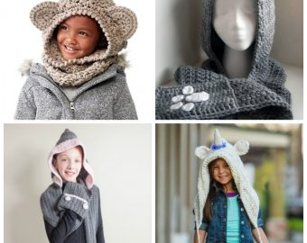 10 Kid's Hooded Free Crochet Scarf Patterns Perfect for Halloween