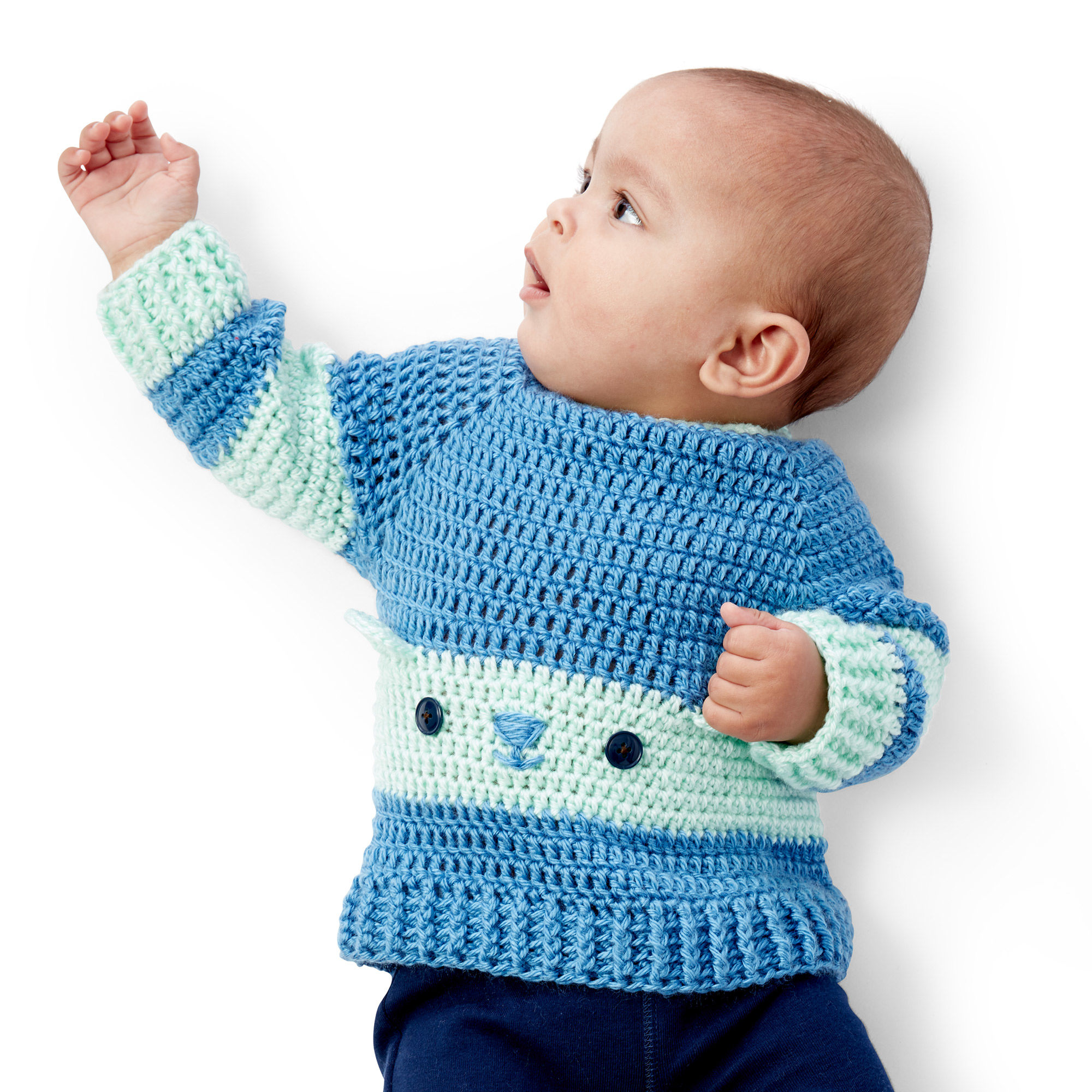 Free Easy Crochet Baby Sweater - These crochet sweaters make for amazing gifts, that will surely be well used, and well worn. #CrochetSweaterPatterns #CrochetSweater #CrochetPatterns