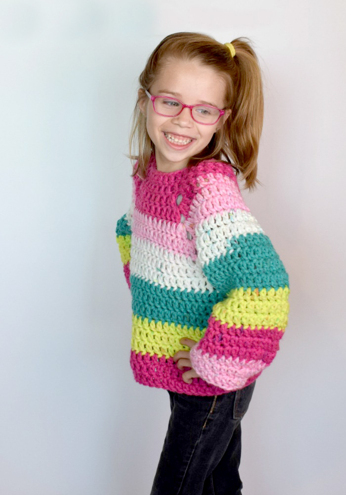 Kid's Chunky Raglan Sweater - These crochet sweaters make for amazing gifts, that will surely be well used, and well worn. #CrochetSweaterPatterns #CrochetSweater #CrochetPatterns