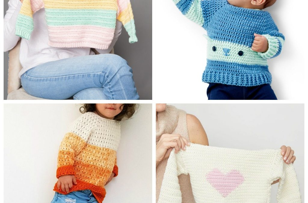 12 Crochet Sweater Patterns for Kids