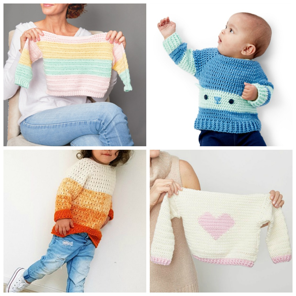 12 Crochet Sweater Patterns for Kids - These crochet sweaters make for amazing gifts, that will surely be well used, and well worn. #CrochetSweaterPatterns #CrochetSweater #CrochetPatterns